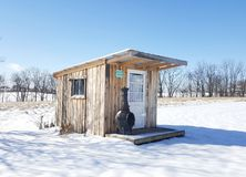 She shed in winter. Sunny winter day and my potting shed Royalty Free Stock Image