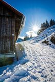 Sunny winter day royalty free stock photo