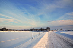 Sunny winter landscape Stock Images