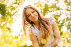 Free Sunny Woman Portrait Royalty Free Stock Image - 87709676