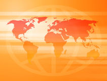 Sunny World Map. Collage with interesting dot screen effect Stock Photos