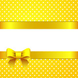 Sunny yellow background with bow Royalty Free Stock Images