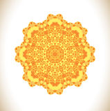 Sunny yellow  circle pattern Royalty Free Stock Image