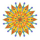 Sunny yellow mandala royalty free illustration