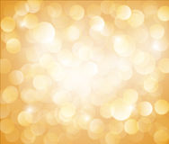 Sunny Yellow Vector bokeh background. Made from white lights Royalty Free Stock Image
