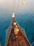 Sunnys pirata łódź w Indonesia Fotografia Royalty Free