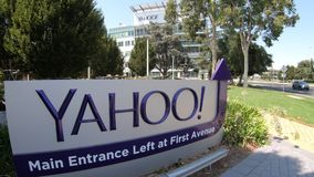 Yahoo 701 first avenue. Sunnyvale, CA, United States - August 12, 2018: close up of Yahoo 701 first avenue at Yahoo Headquarters located in Sunnyvale, Silicon stock video footage