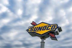 Sunoco-Logo auf einem Pfosten Lizenzfreies Stockfoto