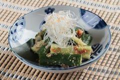 Free Sunomono Japanese Cucumber Salad Including Cut Cucumber Mixing With Rice Vinegar, Sugar , Salt And White Sesame. Stock Photos - 101749583