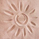 Sunprint on the sand Royalty Free Stock Image