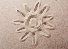 Sunprint on the sand Royalty Free Stock Photography