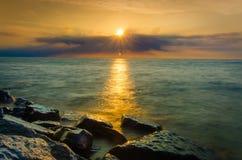 Sunray στο νερό Στοκ Φωτογραφία