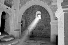 Sunray in church royalty free stock photography