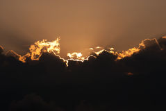 Sunray through cloud Stock Image