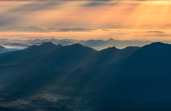 Sunray mountain beautiful Royalty Free Stock Photo