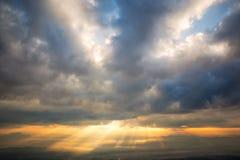 Sunray mountain view Stock Photo