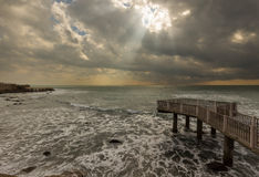 Sunray seascape Zdjęcia Stock