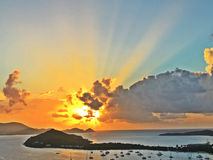 Sunrays στον παράδεισο Στοκ Εικόνες
