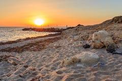 Sunrays на пристани Стоковые Изображения
