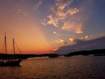 Sunrays Στοκ εικόνα με δικαίωμα ελεύθερης χρήσης