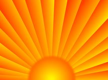 Sunrays. A very colorful background with these sun rays vector illustration