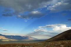 Sunrays Across Owens Valley Royalty Free Stock Image
