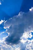 Sunrays in the clouds Royalty Free Stock Images