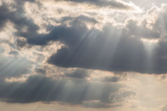 Sunrays and clouds Stock Photo