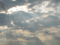 Sunrays through the clouds Royalty Free Stock Photo