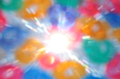 Sunrays color circles Stock Image