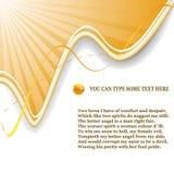Sunrays e composição do fundo da onda Foto de Stock