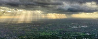 Sunrays over the Midlands Royalty Free Stock Photos