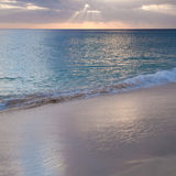 Sunrays over ocean Stock Images