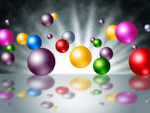 Sunrays Sphere Indicates Spectrum Colours And Spheres Royalty Free Stock Photos
