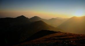 Sunrice in berg Stock Afbeelding