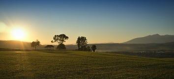 Sunrice in berg Royalty-vrije Stock Foto's