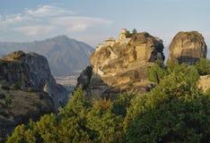 Sunrice chez Meteora Images libres de droits