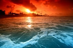 Sunrice del océano Foto de archivo libre de regalías