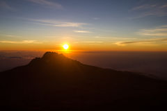 Sunrice Kilimanjaro Peak Royalty Free Stock Photography