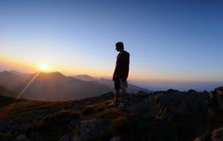 Sunrice in montagna Immagini Stock