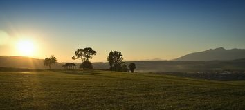 Sunrice na montanha Fotos de Stock Royalty Free
