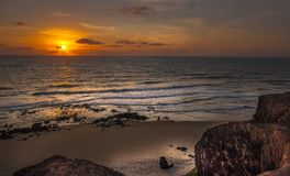 Sunrice Pipa, Tibau do Sul - Rio Grande doet Norte, Brazilië stock foto's