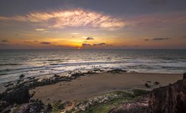 Sunrice Pipa, Tibau do Sul - Rio Grande do Norte, Brazil. Sunrice Pipa, Tibau do Sul - Rio Grande do Norte,Beach Rocks Royalty Free Stock Image