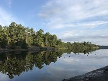Sunrie в парке Groundy стоковое изображение rf
