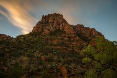 Sunrie em Zion National Park Foto de Stock Royalty Free