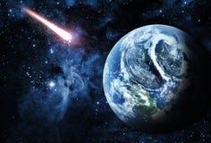Sunriece bonito no planeta vermelho no espaço Fotos de Stock