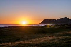 Sunriese östlig udde, Nya Zeeland Royaltyfri Bild