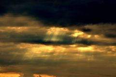 sunrisc hemel stock foto's
