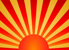 Sunrise. Colorful sunrise background yellow and red gradient Royalty Free Stock Photography