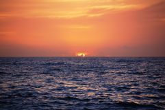 Sunrise. At the Pacific Ocean, East coast of Japan Royalty Free Stock Photo